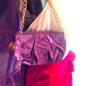 Handbags - Flirty Faux Leather Purple Bag